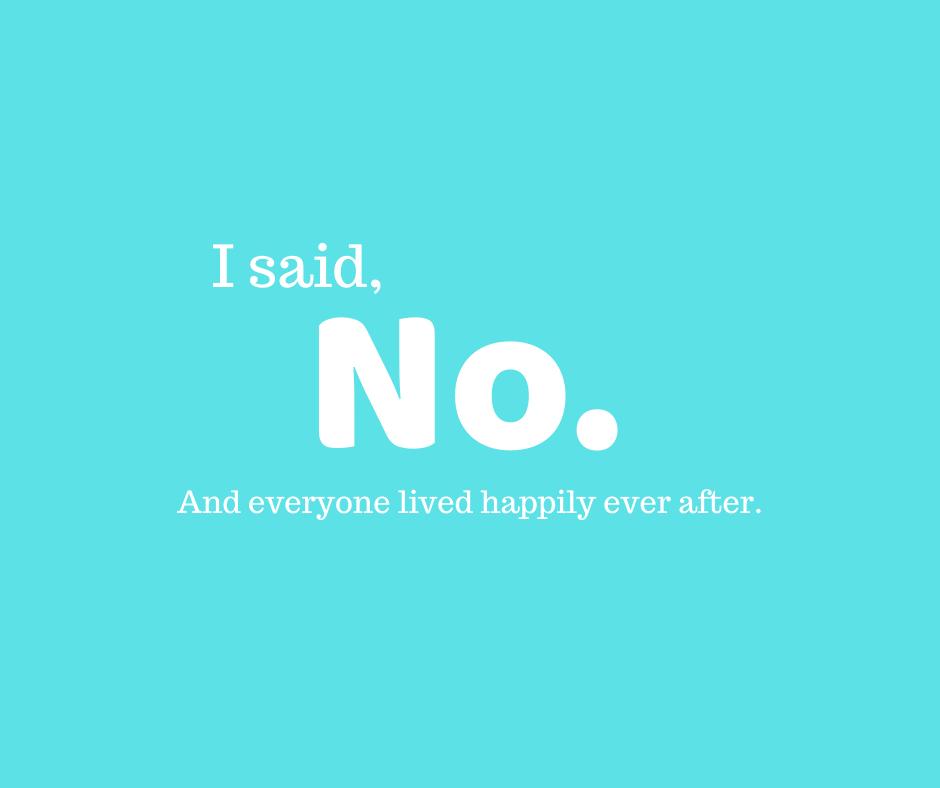 """Saying """"no"""""""