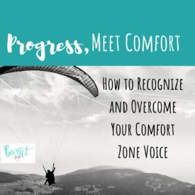 Progress, Meet Comfort